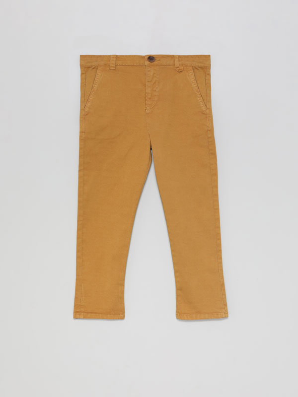 BASIC CHINO TROUSERS