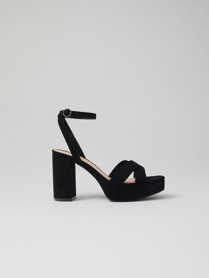 Criss-cross platform sandals