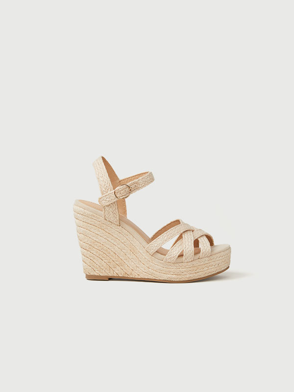Braided jute wedges