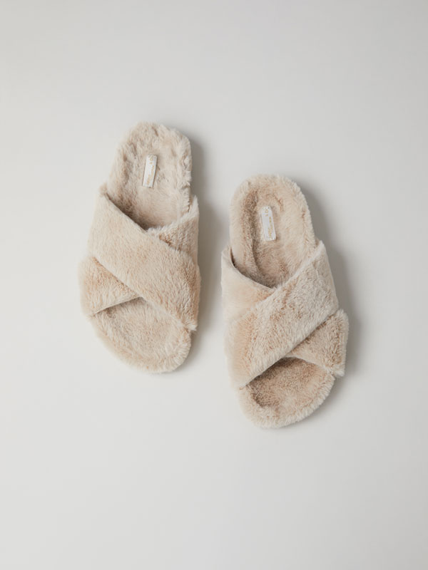 Soft-touch crossover slippers