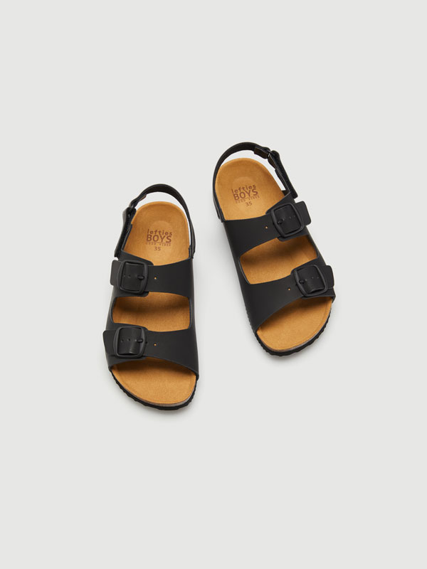 Buckled sandals
