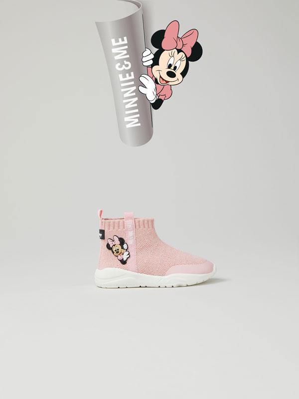 Minnie © DISNEY sock-style basketball shoes
