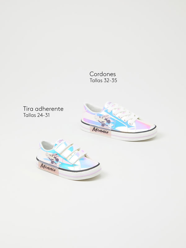 Iridescent Minnie sneakers