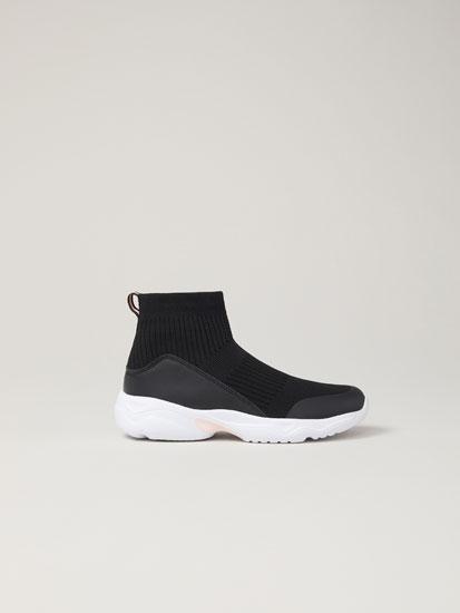 Deportivo calcetín negro