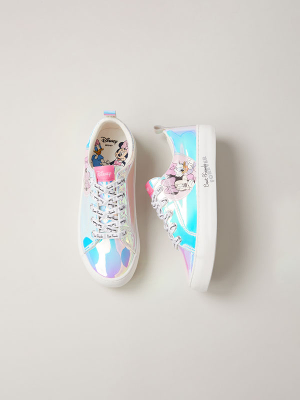 Minnie & Daisy © Disney iridescent sneakers