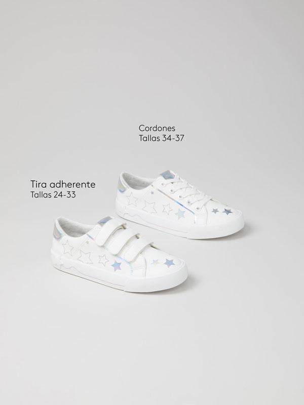 Iridescent star sneakers