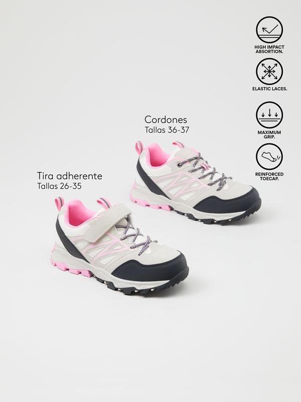 Hiking sneakers.