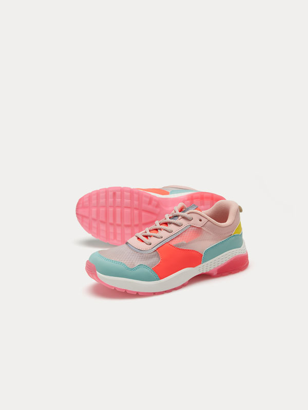 Colourful mesh sneakers