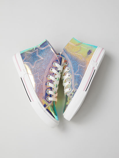 Ténis bota iridescente